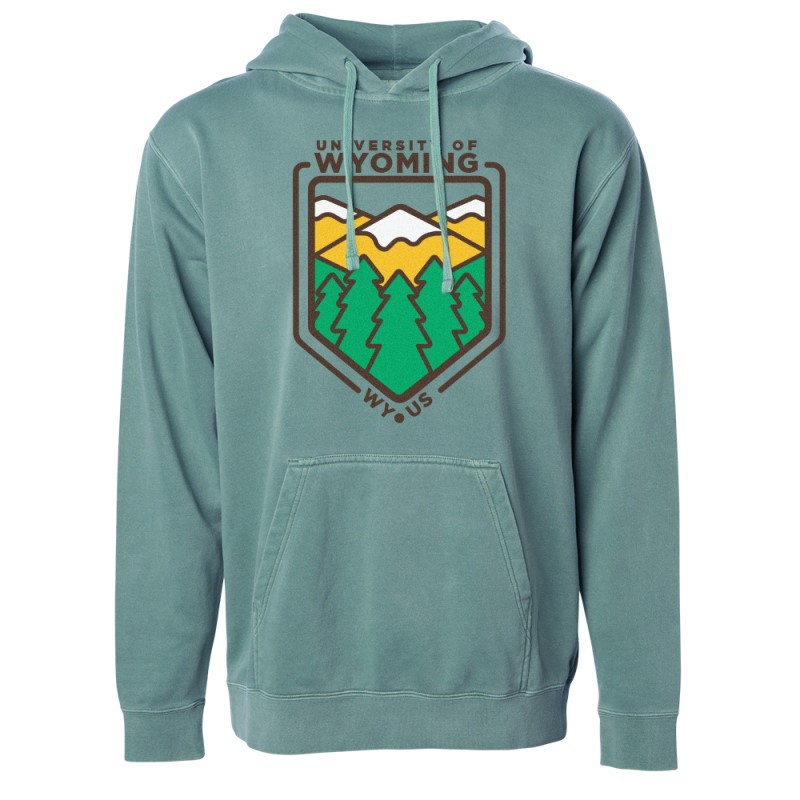 Uscape® University of Wyoming Geometric Landscape Hoodie (SKU 140460491169)