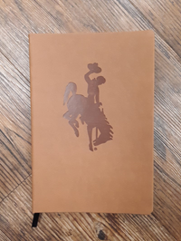 Faux Leather Bucking Horse Journal