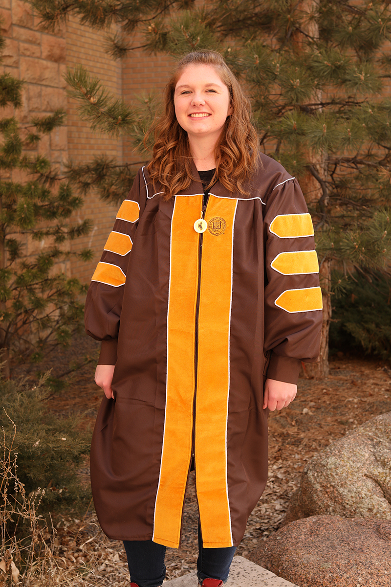 Doctorate Gown with Zipper Pull (SKU 140659411473)