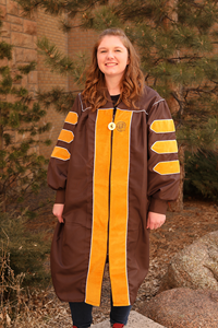 Doctorate Gown with Zipper Pull