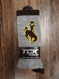 TCK® Sports Grey Wool Bucking Horse Socks