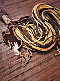 Souvenir 2020 Tassel with Bucking Horse Charm