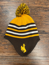 Logofit® Toddler Striped Bucking Horse Pom Beanie