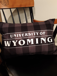Plaid University of Wyoming Pillow