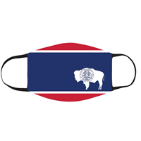 Neil® Wyoming State Flag Face Mask