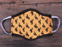 Third Street Sportswear® Cotton Bucking Horse Repeat Face Mask