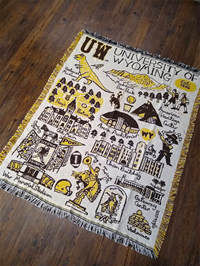 Julia Gash UW Collage Tapestry Blanket