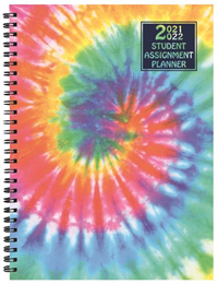 Planner Academic Tie Dye Student Assignments