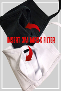 Black and White Cotton Mask 10 Pack