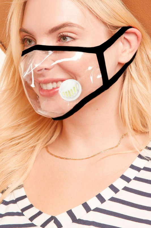 Clear Mask with Vent (SKU 140827881509)