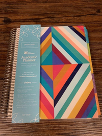 Academic Planner- Oh So Retro Colorful