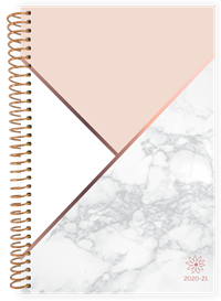 Planner Color Blocking Marble Academic