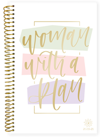 Planner Woman With A Plan Academic