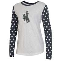 Champion® Ladies Polka Dot Bucking Horse Long Sleeve Tee