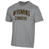 Champion® All Over Champion Script Wyoming Cowboys Tee