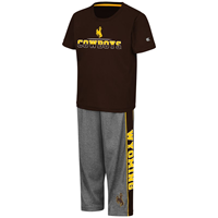 Colosseum® Toddler Performance Wyoming Cowboys 2 Piece Shirt and Pant Set