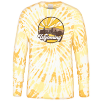 USCAPE® Spiral Tie Dye Wyoming Long Sleeve Tee