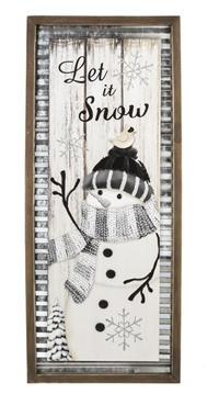 Corrugated Metal Snowman Sign