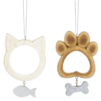 Dog and Cat Frame Ornaments