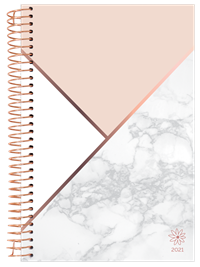 2021 Yearly Planner Color Blocking Marble