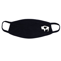 Ouray® Flat Cotton Buffalo Heart Mask