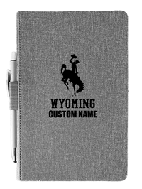 Personalized Wyoming Journal with Pen Set