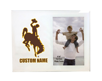 Personalized Glass 4x6 Bucking Horse Photo Frame