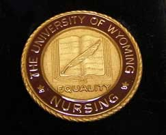 Nursing Pin Gold Plate